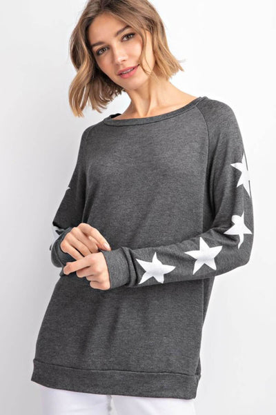 Star Crewneck Sweatshirt Black _ MILK MONEY