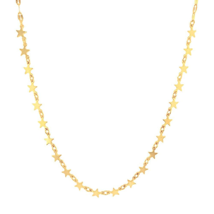 Star Power Multi Layer Necklace Gold MILK MONEY