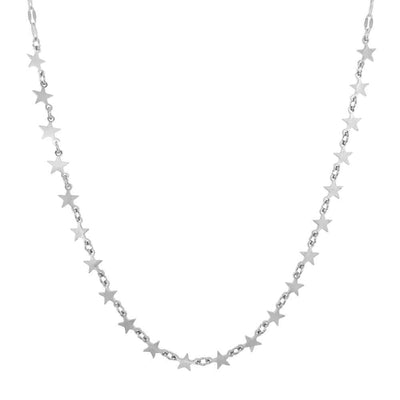 Star Power Multi Layer Necklace Silver MILK MONEY