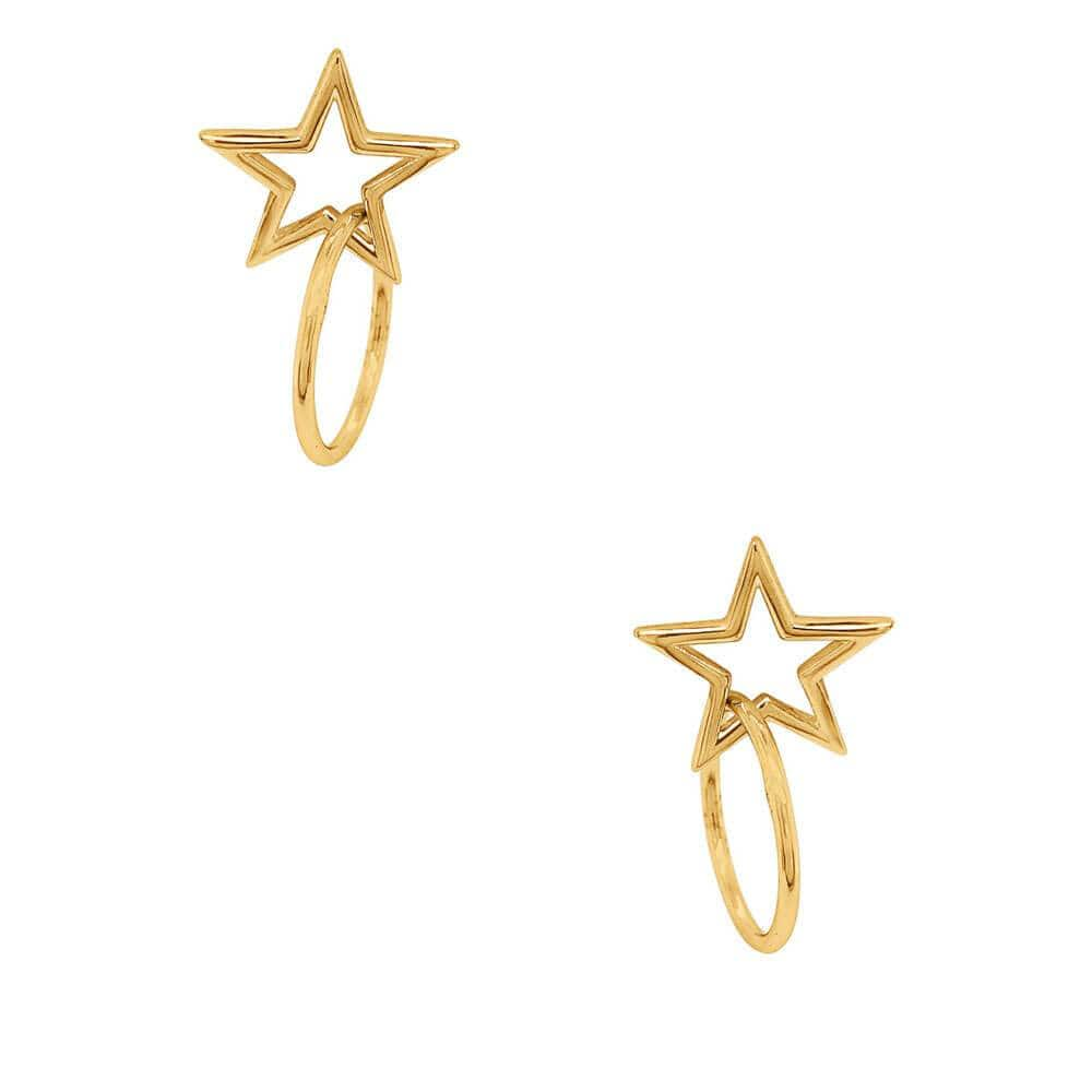 Star Stud Earring Gold Hoop - MILK MONEY