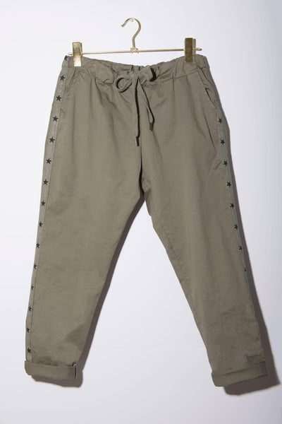 StarCrossed Chino Pants olive front MILK MONEY