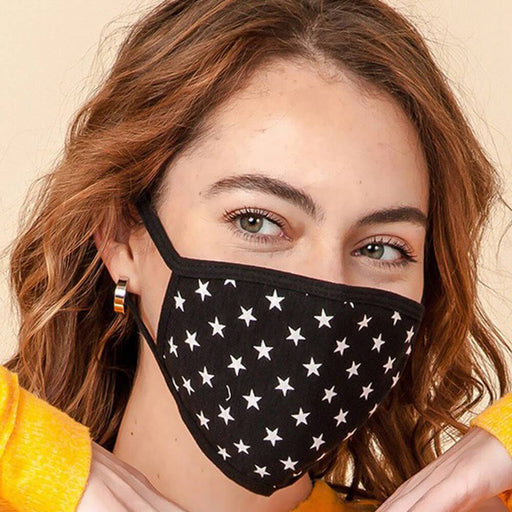 Starry Eyed Fashion Face Mask black MILK MONEY