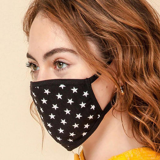 Starry Eyed Fashion Face Mask black side MILK MONEY