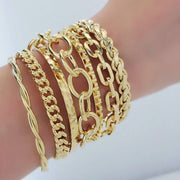 Studded Layering Cuff gold group model MILK MONEY