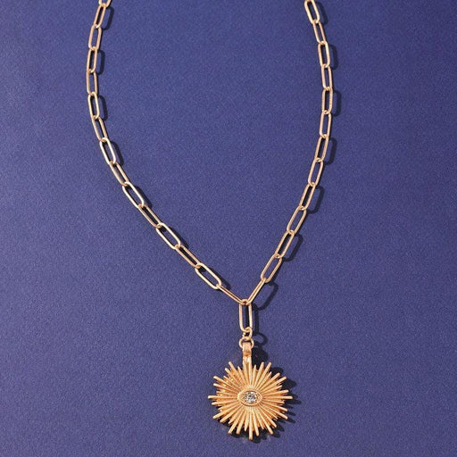 Sunburst Bohemian Pendant Necklace  gold MILK MONEY