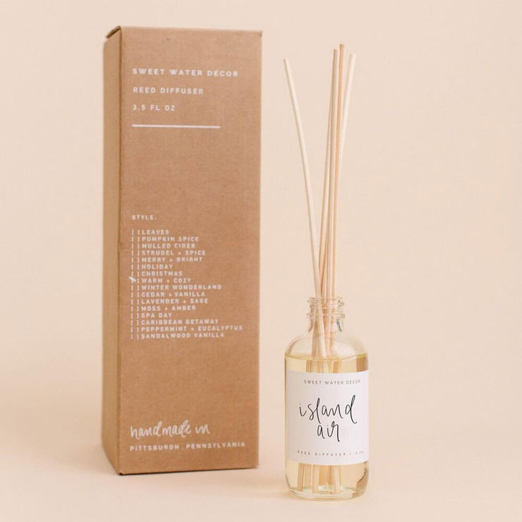 Sweet Water Decor Island Air Reed Diffuser box MILK MONEY