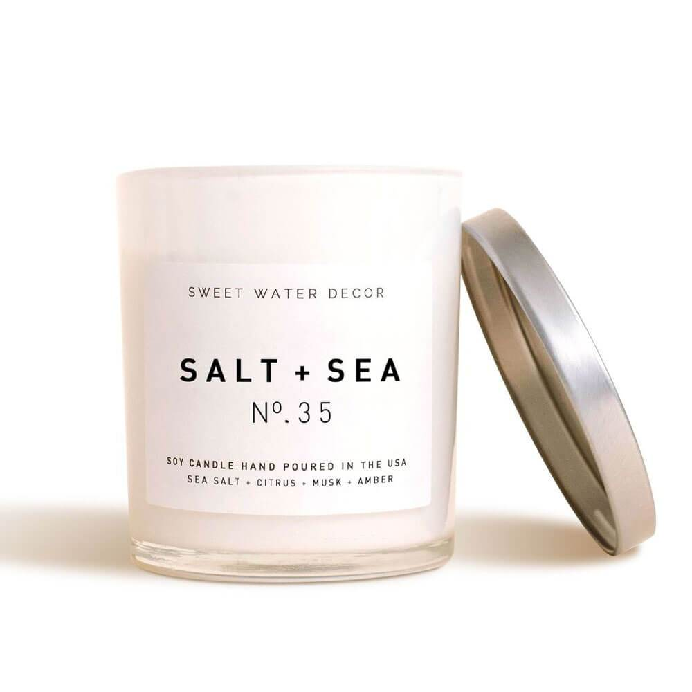 Sweet Water Decor Salt and Sea Soy Candle  white MILK MONEY