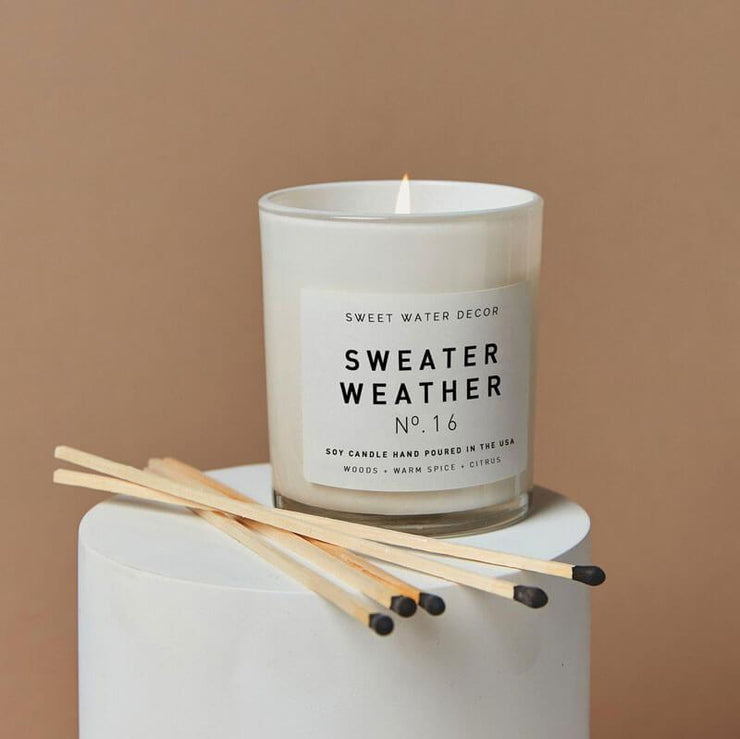 Sweet Water Decor Sweater Weather Soy Candle white MILK MONEY