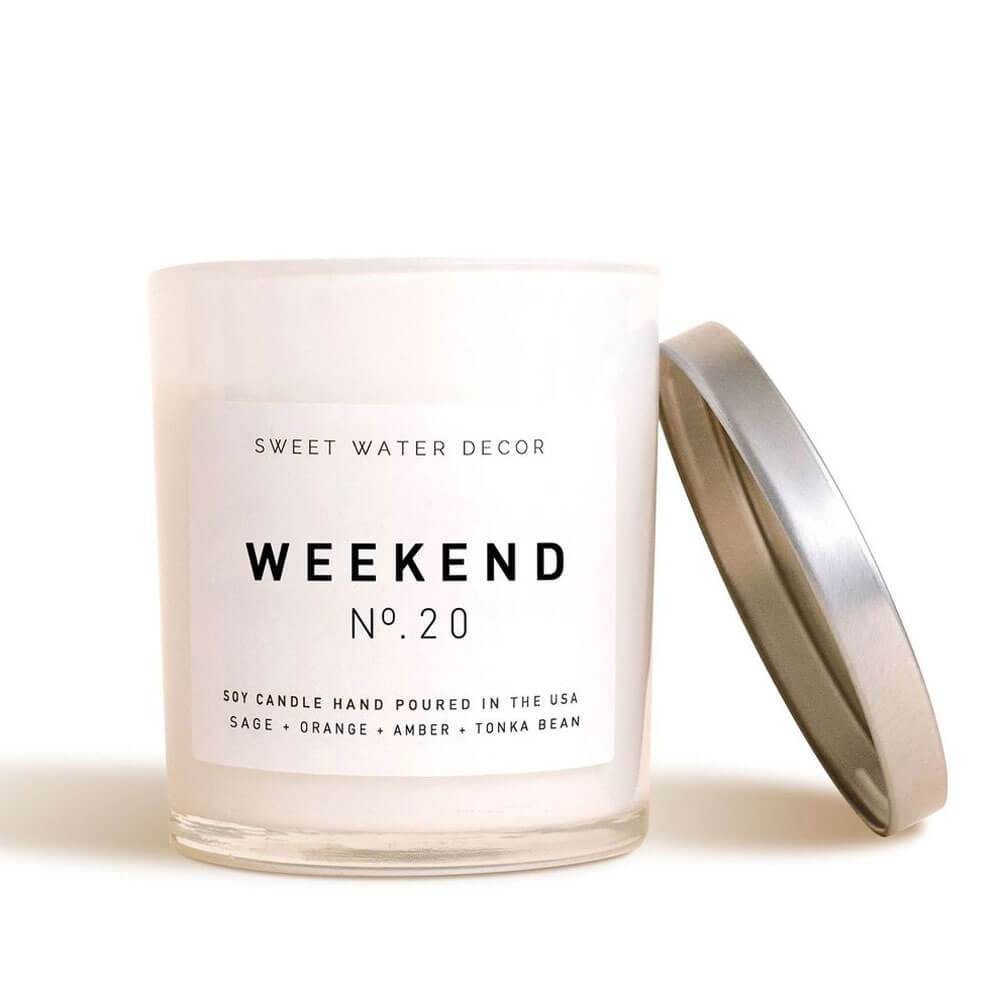 Sweet Water Decor Weekend Soy Candle white MILK MONEY