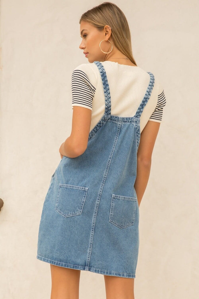 The Dolly Denim Dress Blue MILK MONEY