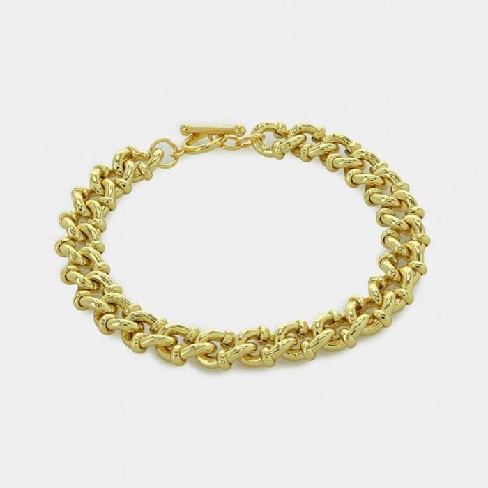 Thick Cuban Chain Bracelet gold MILK MONEY