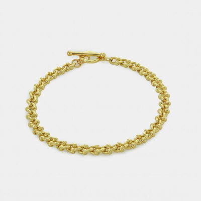 Thin Textured Cuban Chain Bracelet gold MILK MONEY