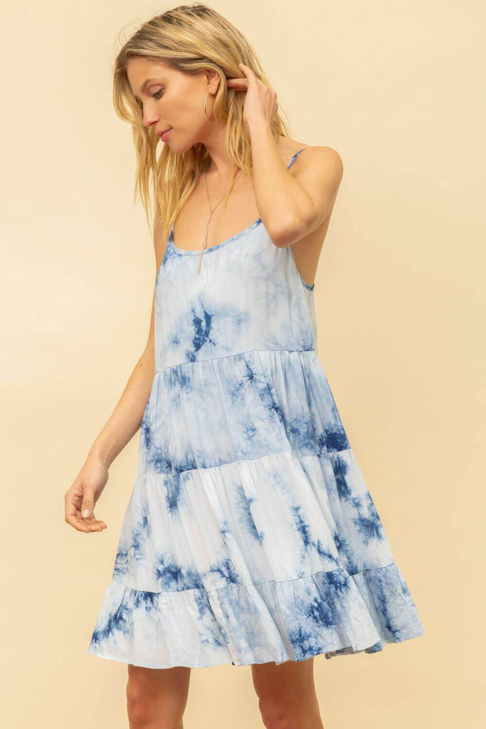 Tie Dye Cami Mini Dress blue MILK MONEY