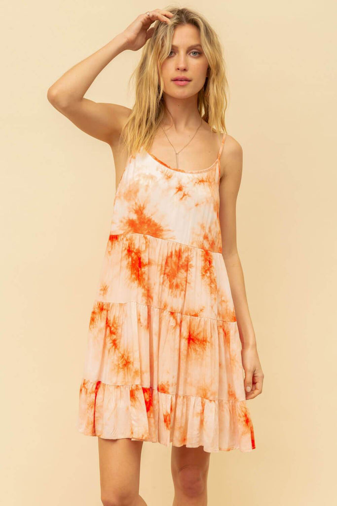 Tie Dye Cami Mini Dress  orange MILK MONEY