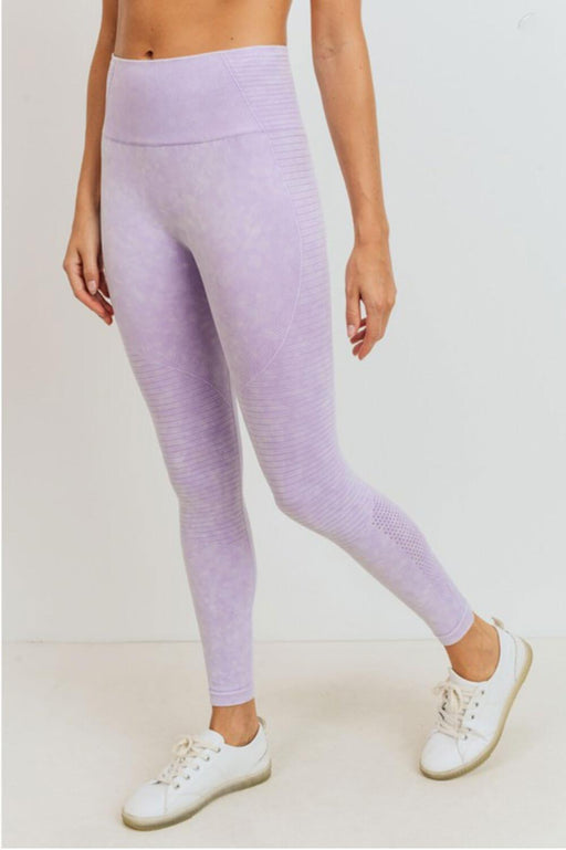 Tie Dye Seamless High Waist Leggings lavender _ MILK MONEY