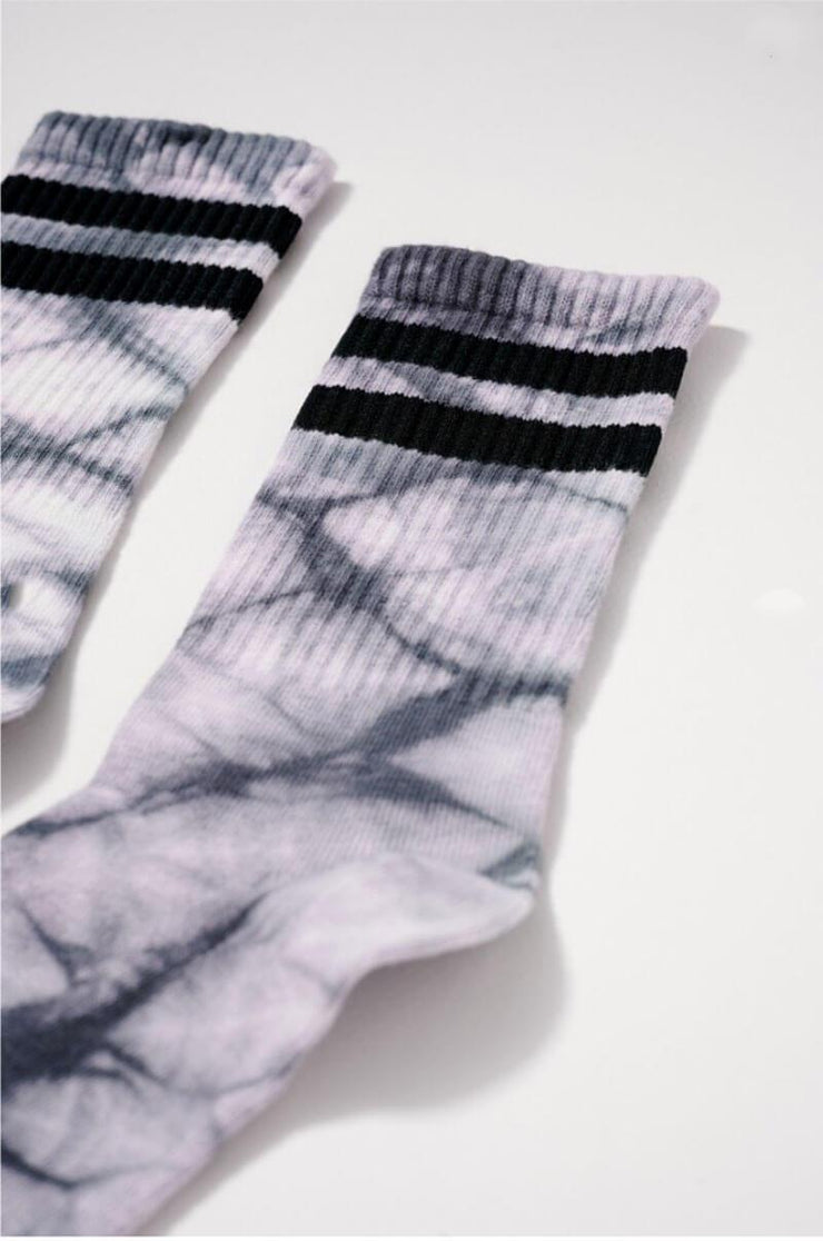 Tie Dye Sports Crew Socks grey detail MILK MONEY