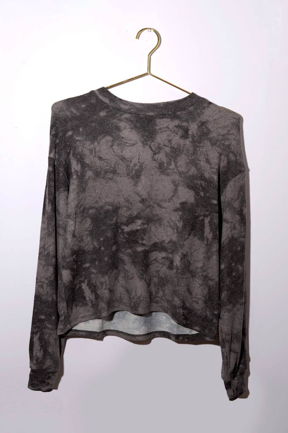 Tie Dyed Loungewear Pullover black front MILK MONEY