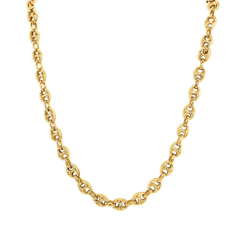 Tiny Glam Hollow Puff Chain Necklace gold - MILK MONEY