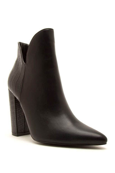 Tribeca Heel Boots black front MILK MONEY