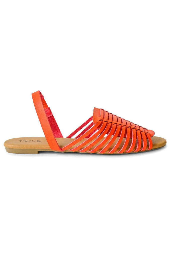 Tucson Sandal Orange side -MILK MONEY