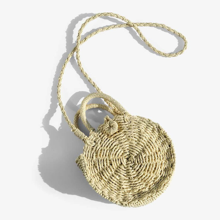 Tula Mini Woven Circle Crossbody natural - MILK MONEY