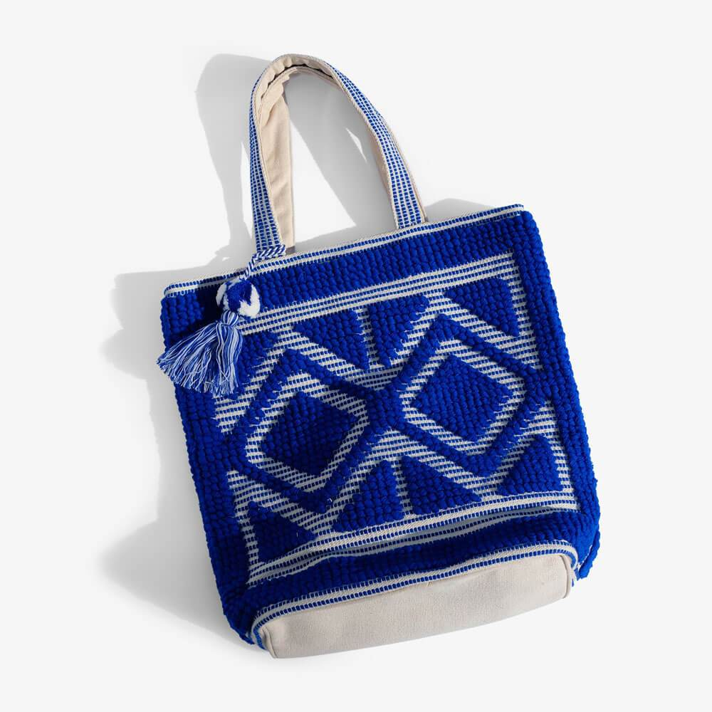 Tulum Fabric Tote Blue - MILK MONEY
