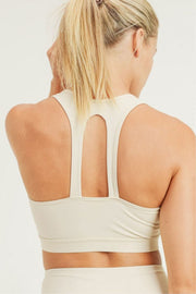 Twin Straps Racerback Sports Bra natural back MILK MONEY