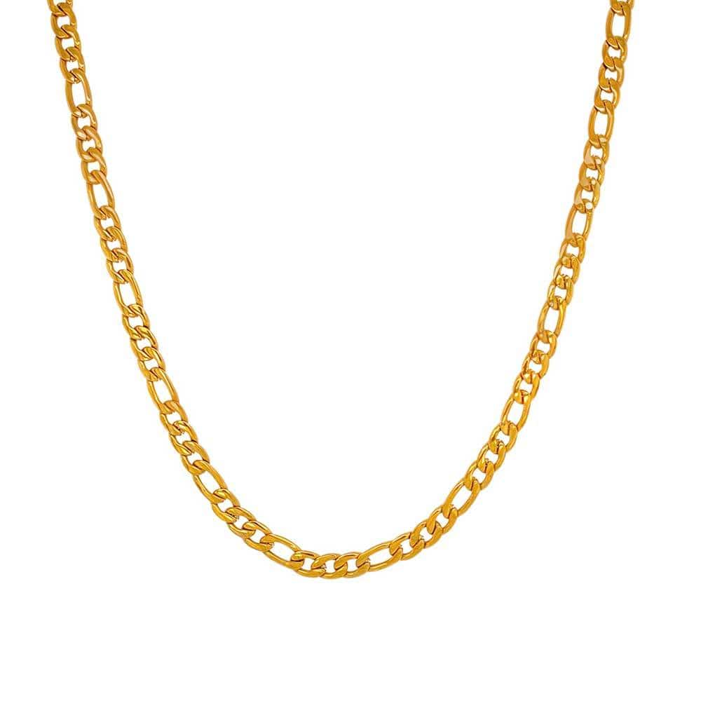 Vinny Classic Curb Necklace Gold MILK MONEY