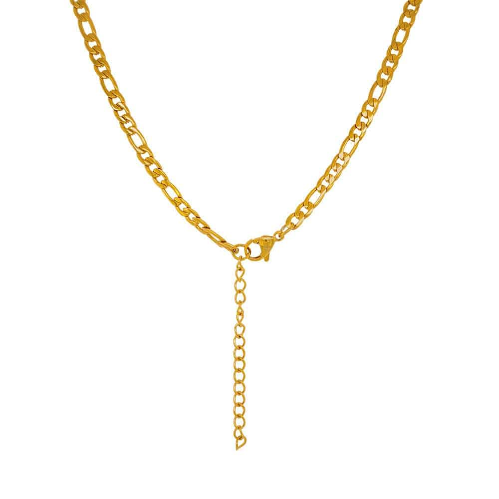 Vinny Classic Curb Necklace gold back MILK MONEY