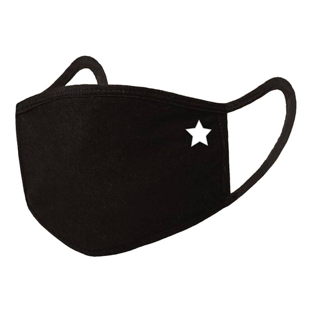 Washable Emblem Face Mask  black star MILK MONEY