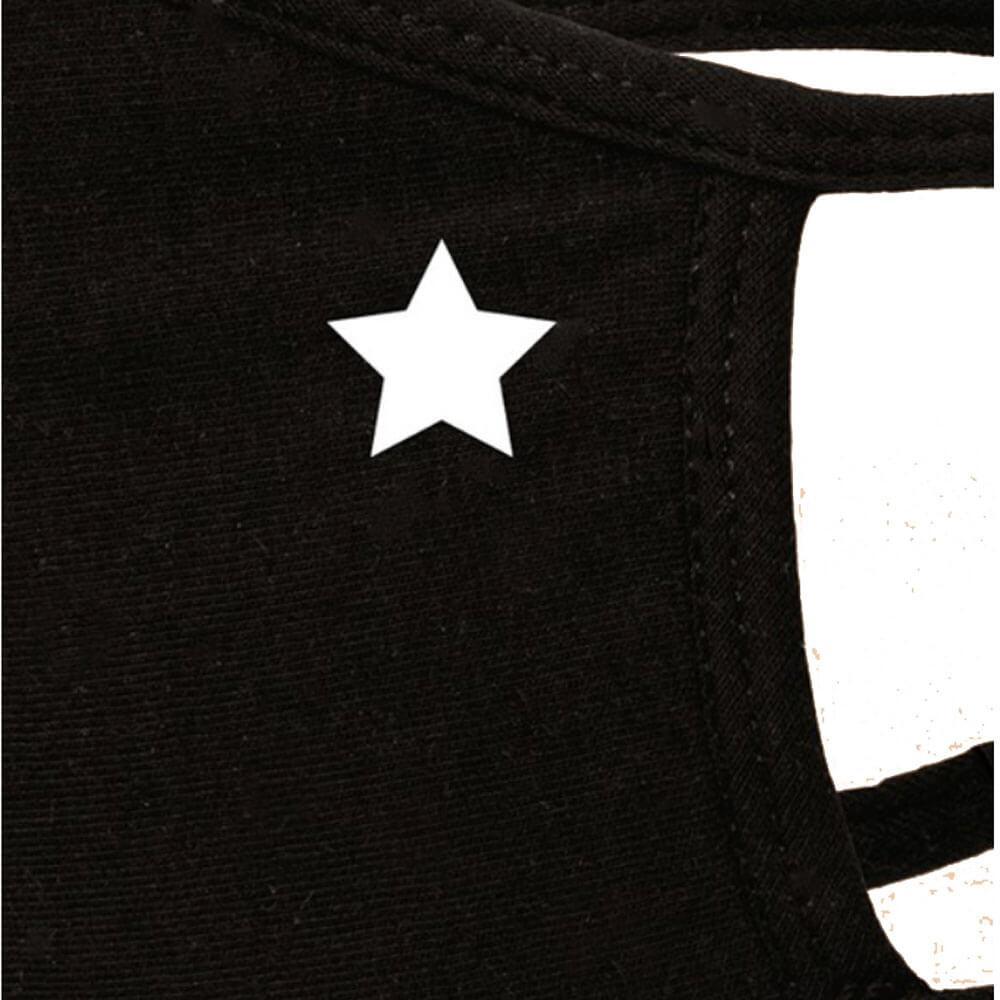 Washable Emblem Face Mask black star detail MILK MONEY