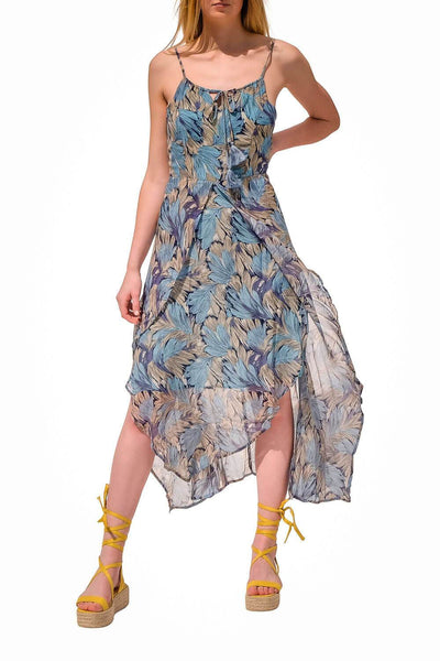 Whisppy Floral Dress Blue - MILK MONEY