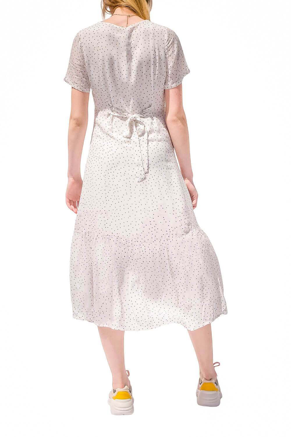 Willow Polka Dot Dress White back -MILK MONEY