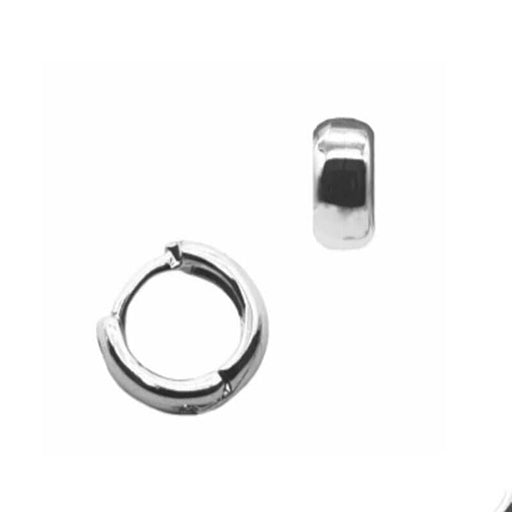 Winn Thick Huggie Hoop silver MILK MONEY