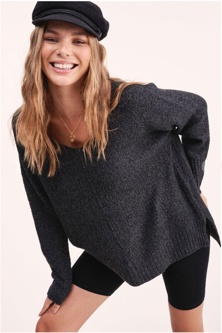 Winnie Soft Knit Sweater charcoal MILK MONEY