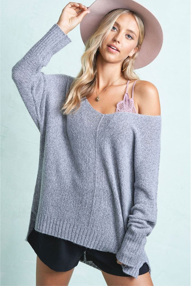 Winnie Soft Knit Sweater grey MILK MONEY