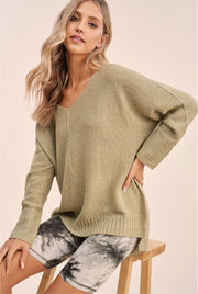 Winnie Soft Knit Sweater sage MILK MONEY