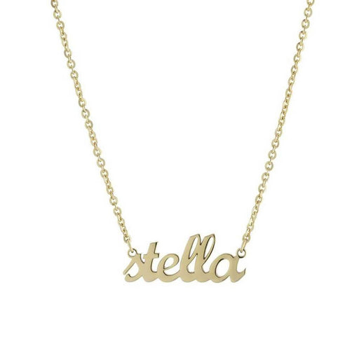 Custom Script Nameplate Pendant Necklace Gold - MILK MONEY