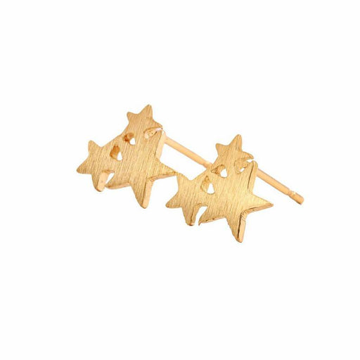Women's Clustered Stars Everyday Stud Earrings gold side | JEWELRY | MILK MONEY | milkmoney.co