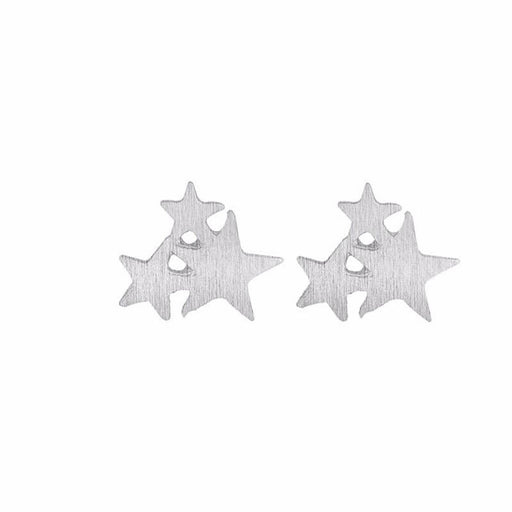 Women's Clustered Stars Everyday Stud Earrings silver front | JEWELRY | MILK MONEY | milkmoney.co