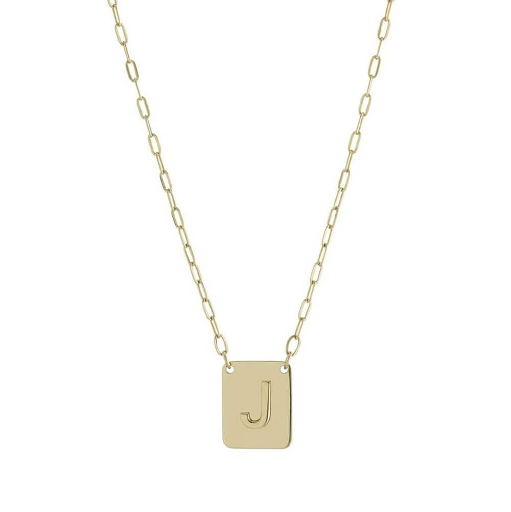 Single Initial Charm Necklace Gold - MILK MONEY