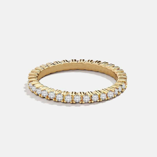 Women's Everyday Crown Bezel Layering Ring gold front | MILK MONEY | milkmoney.co