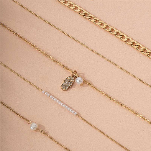 Women's Juliet Everyday Pearl Layering Bracelet Set gold detail | MILK MONEY | milkmoney.co