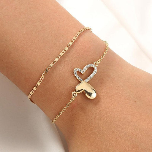 Women's Pavé Butterfly Double Wrapped Friendship Bracelet gold model | JEWELRY | MILK MONEY | milkmoney.co