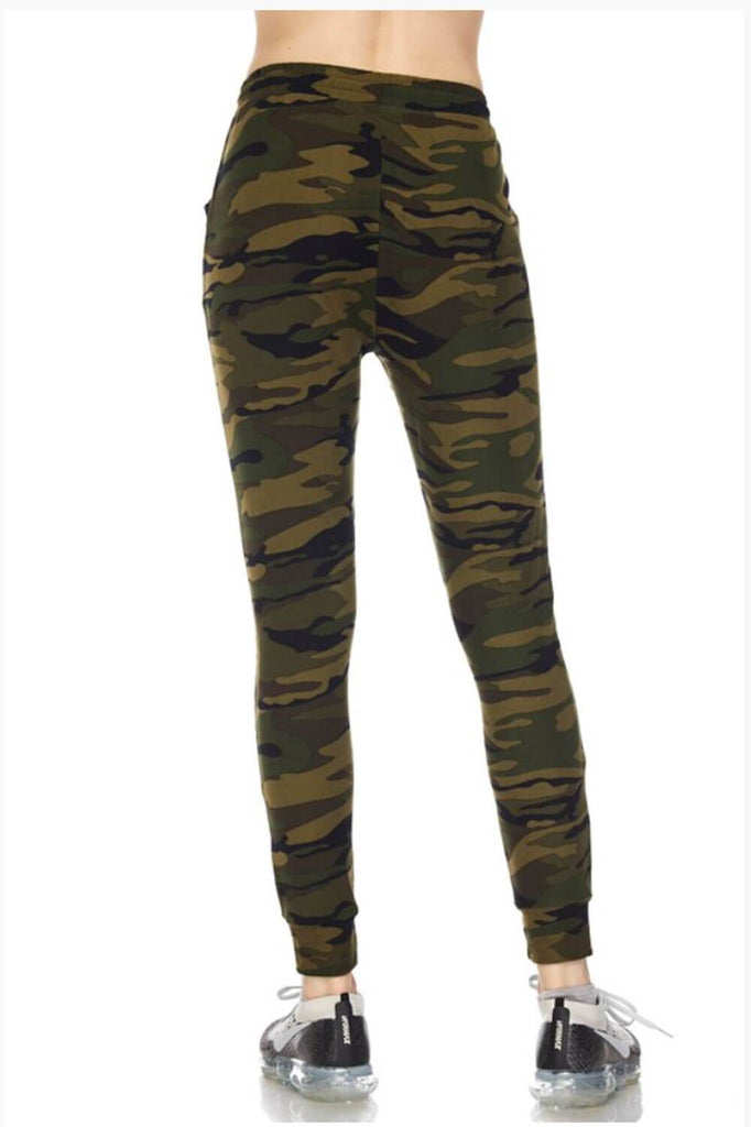 Your Camo Jogger green back MILK MONEY