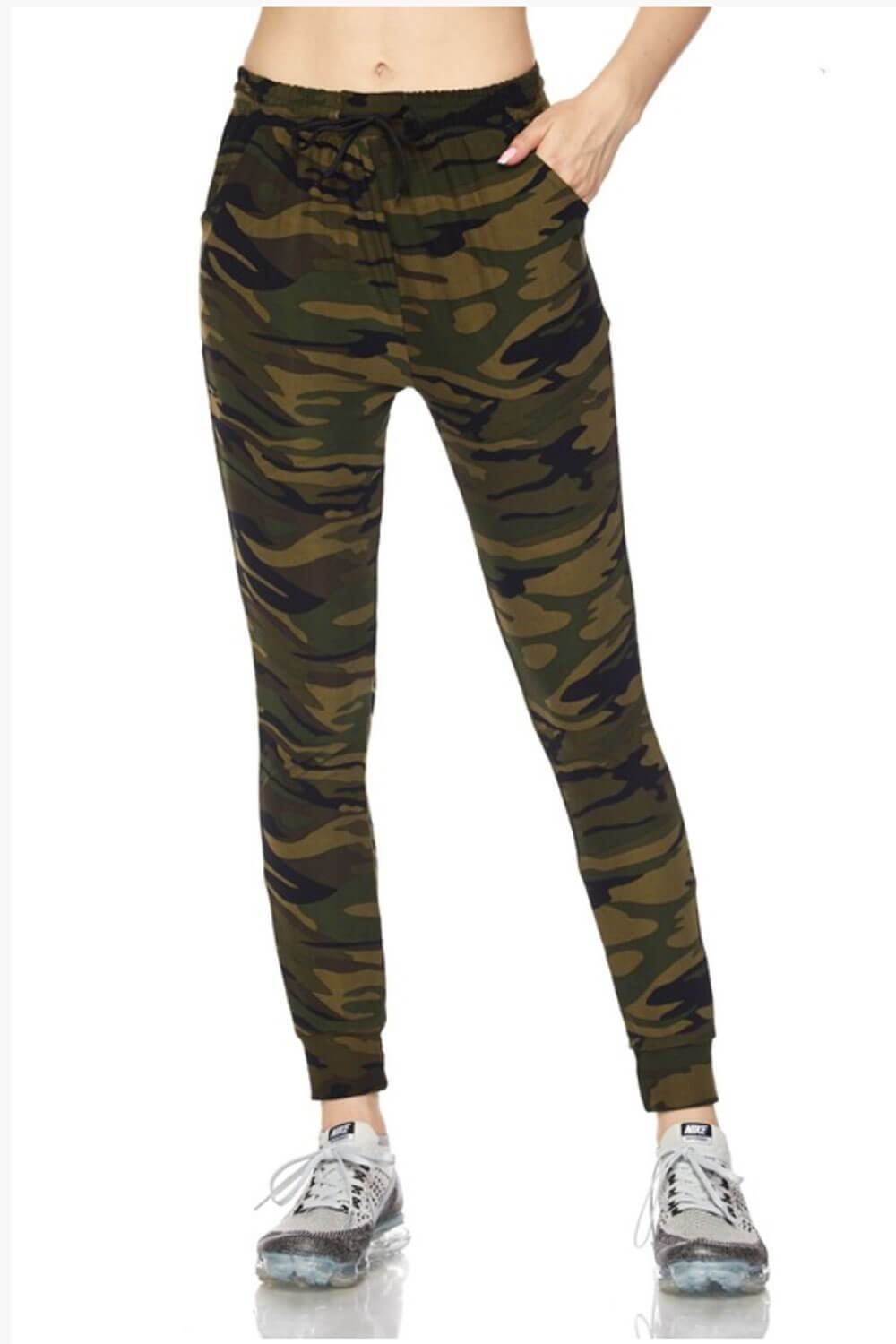 Your Camo Jogger green front MILK MONEY