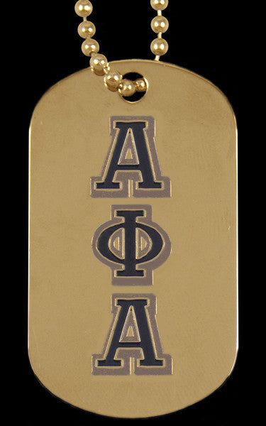 Gold Dog Tag