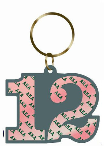 Key Chain-Line Number Double