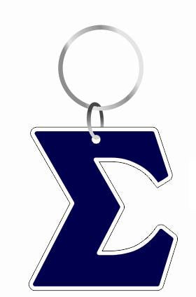 Key Chain-Symbol Outlined Acrylic