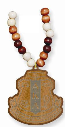 Wood Bead Tiki Crest